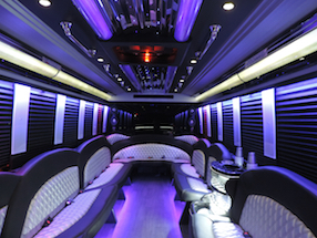 Exterior of Limo Bus