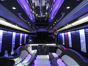 Interior of Limo Bus